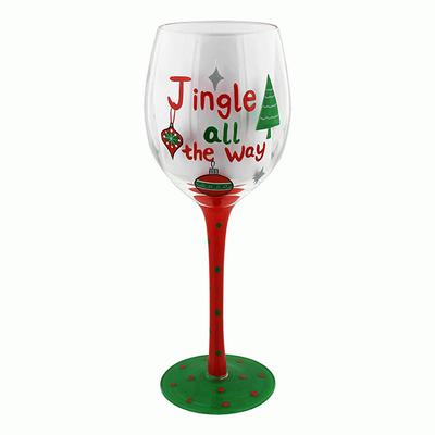 Christmas Jingle All The Way Wine Glass
