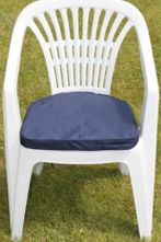 Cushion for Plastic Garden Chair in Blue