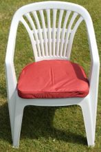 Cushion for Plastic Garden Chair in Terracotta