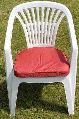 Cushion for Plastic Garden Chair in Terracotta