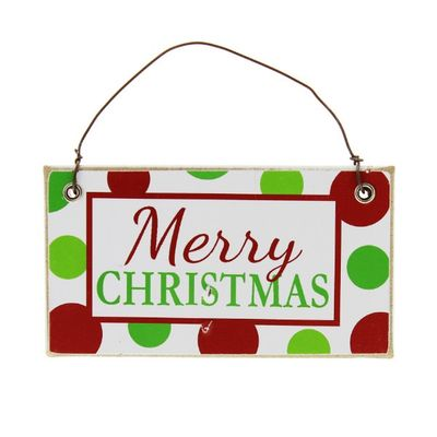 Christmas Wooden Hanging  Wall Plaque - Merry Christmas