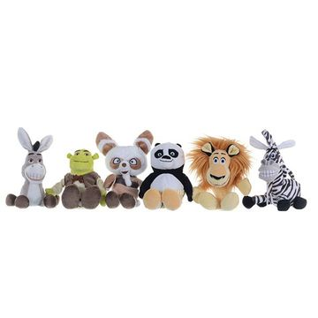 Dreamworks Evergreen Small Plush (Alex/Marty/PO/Shifu/Shrek/Donkey)