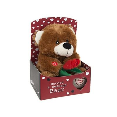 9inch Record A Message Love Bear In Gift Box