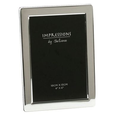 Impressions Silverplated Photo Frame Flat Edge - 4 Inch  X 6 Inch