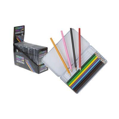 12pce Full Length Colouring Pencils In Tin Box