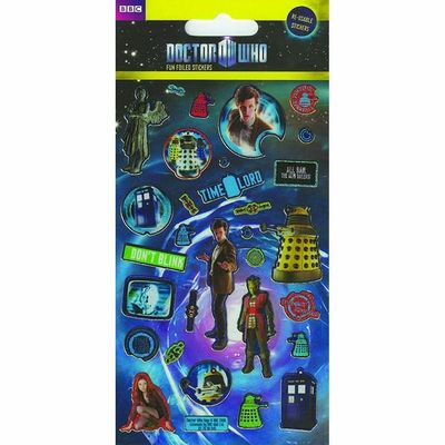 Small Foil Dr Who Stickers
