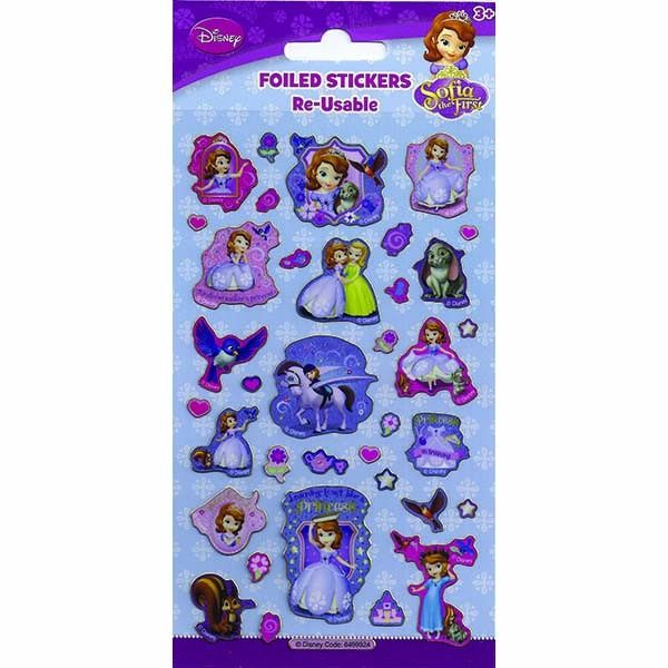 Small Foil Sofia The First Stickers