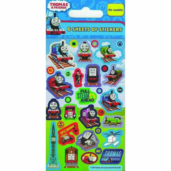 Party 6 Sheets Thomas And Friends Stickers