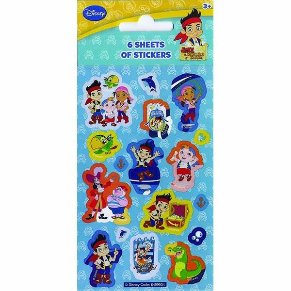 Party 6 Sheets Jake And The Neverland Pirates Stickers
