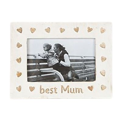 Best Mum Country Charm Shabby Chic Photo Frame 15x21x1cm