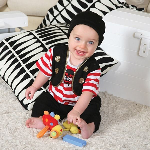 Baby Buccaneer Dress Up Costume 3-6 Months