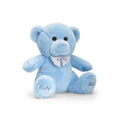20cm Baby Boy Bear Soft Plush By Keel Toys