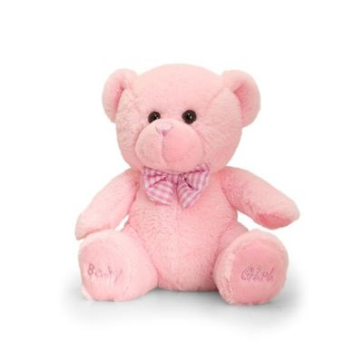 20cm Baby Girl Bear Soft Plush By Keel Toys