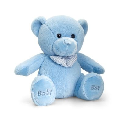 25cm Baby Boy Bear Soft Plush By Keel Toys