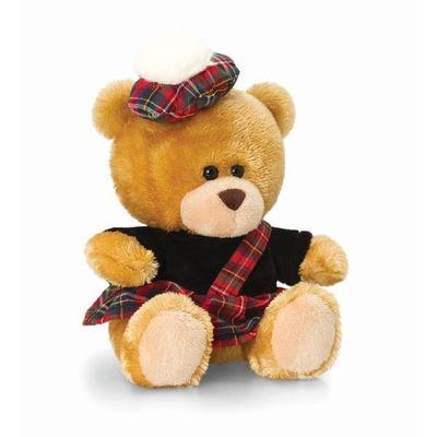 14cm Pipp Scottish Piper Bear Soft Plush By Keel Toys - Souvenir