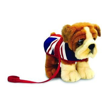 30cm Bulldog With Union Jack Coat Soft Plush By Keel Toys - Souvenir