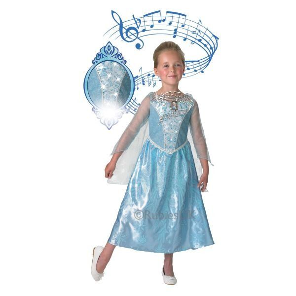 Musical-light Up Elsa Fancy Dress Outfit 3-4 years By Rubies