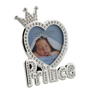Juliana Silverplated & Epoxy Crystal Photo Frame - Prince