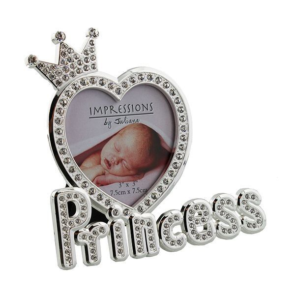 Juliana Silverplated & Epoxy Crystal Photo Frame - Princess