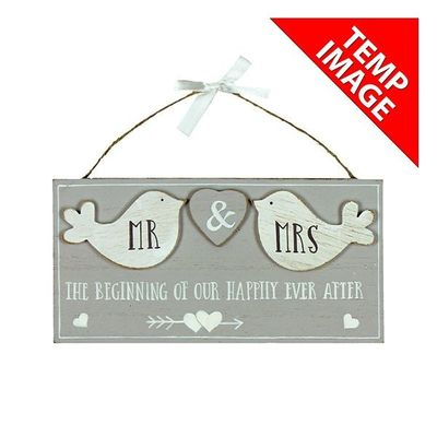 Love Story Mdf Plaque Birds - The Beginning