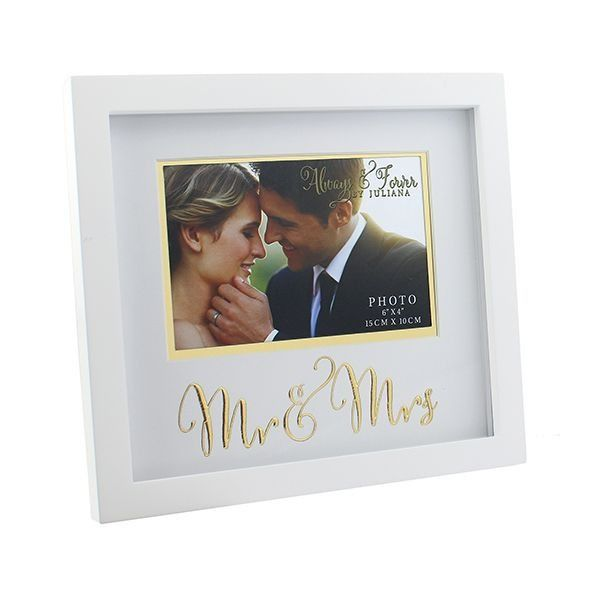 Always & Forever Mdf Frame With Gold Words Mr & Mrs 6x4inch