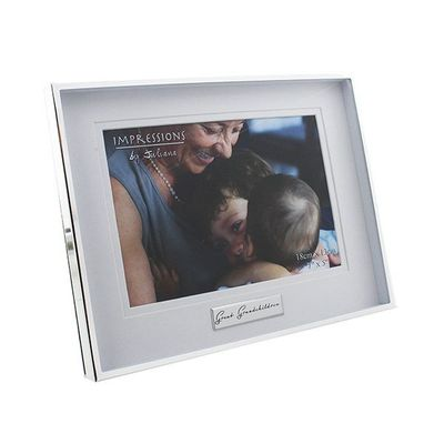 Juliana Shiny Silverplated Photo Frame Great Grandchildren 7 X 5