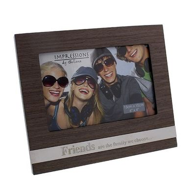 Juliana Mdf Frame With Metal Plaque - Friends 6 X 4