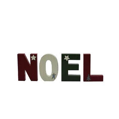 Christmas Noel Blocks Set Of 4 By Leonardo Collection