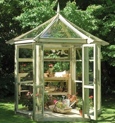 Forest Garden Glass house