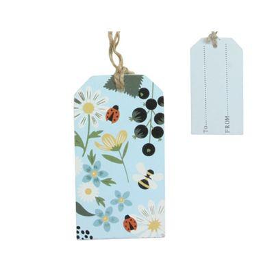 Kitchen Garden Wood Gift Tag - 50x90x25mm