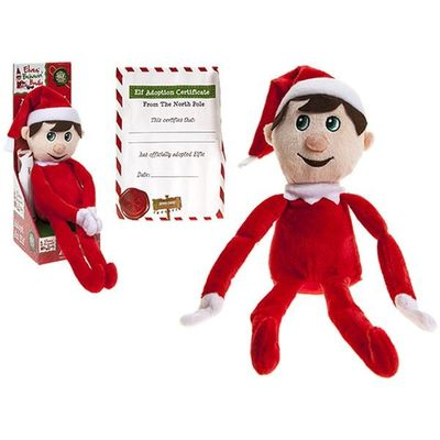 12inch Adopt An Elf In Display Box Supersoft Velboa W/velcro Hands