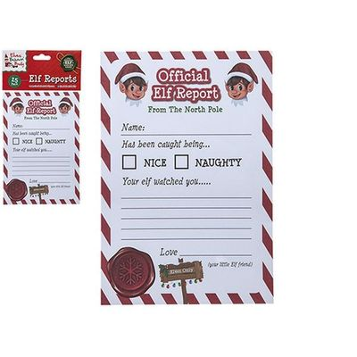 Elf Report Cards In Polybag With Header Card - 25 A5 Cards