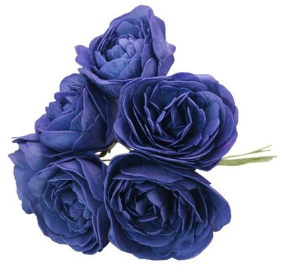 Navy Blue Genoa Foam Roses