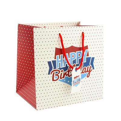Gents Happy Birthday Gift Bag Medium  by Leonardo Collection