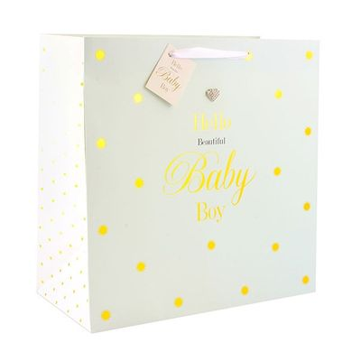 Mad Dots Baby Boy Gift Bag Large  by Leonardo Collection