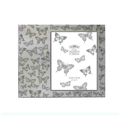 Silver Glitter Butterfly Frame 5x7  by Leonardo Collection