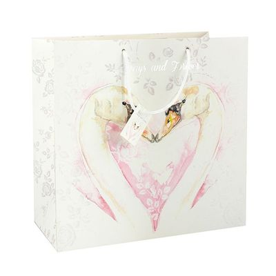 Wedding Swan Gift Bag Large  by Leonardo Collection