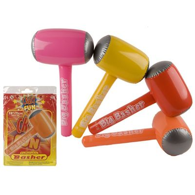 28inch Inflatable Big Basher Hammer With White Printing - 4 Assorted