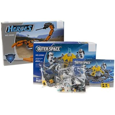 2 Assorted Space And Alien Series Building Brick Sets