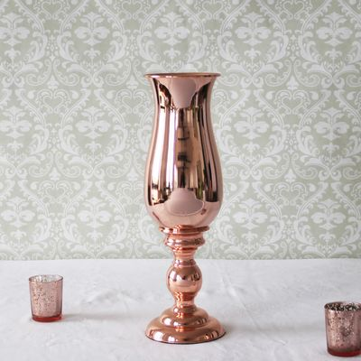 51cm Rose Gold Shaped Vase