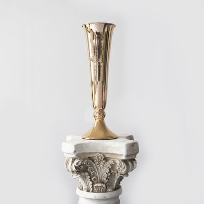 40cm Gold Plated Conic Vase