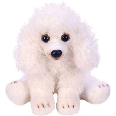 Yomiko Sitting White Poodle Dog