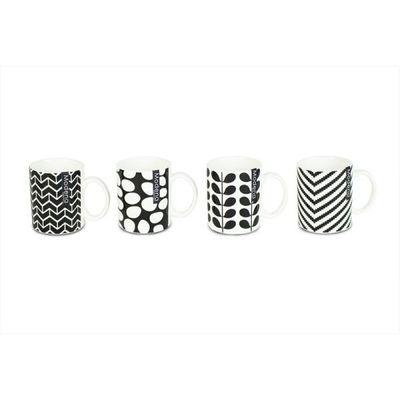 Mugs 12oz New Bone China 4 Assorted Designs