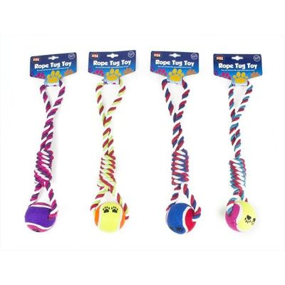 Ball And Rope Knot Tug Toy