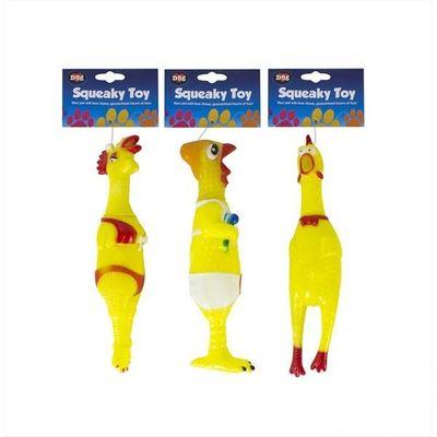 Squeaky Vinyl Chicken Toy