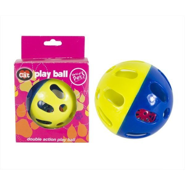 Double Action Cat Play Ball