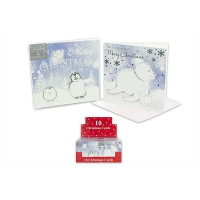 10 Cute Penguin And Seal Arctic Christmas Cards