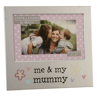 Juliana Aluminium Photo Frame 4 X 6 - Me & My Mummy