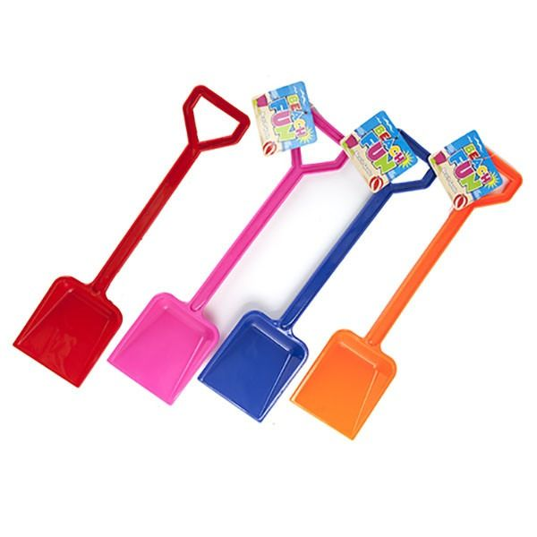 Glossy Plastic Spade 18inch  4  Assorted Colours