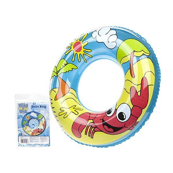 24inch Printed Beach Desing Swim Ring 7-2g